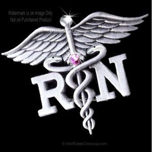 Nurse Pin Pink Crystal