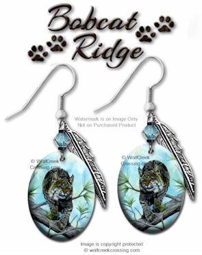bobcat earrings