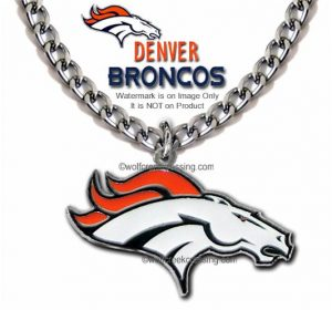 denver broncos necklace