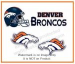 broncos post earrings