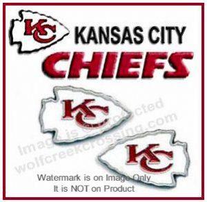 chiefs post earrings
