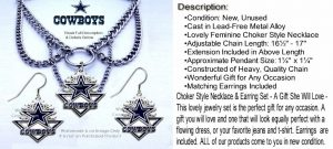 dallas cowboys necklace earrings