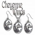 Horses Necklace & Earrings