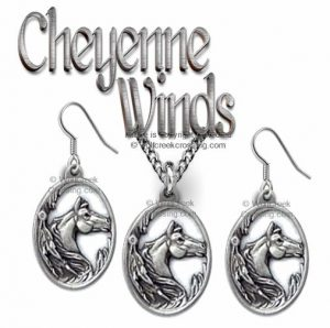 Horses Necklace & Earrings