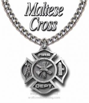 Large FireFighter Necklace