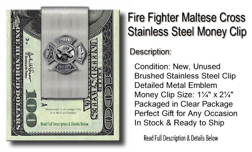 Fire Fighter Money Clip