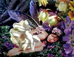Fairy Sleeps Art Print