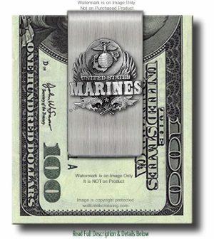 Marines Money Clip