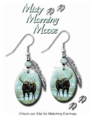 moose earrings extra
