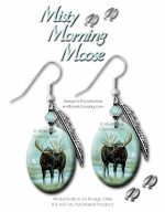 misty moose earrings