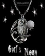 Owl's Moon Necklace