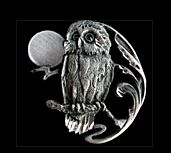 Back Side Owl Pendant