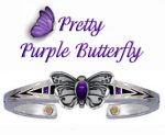 Purple Butterfly Bracelet