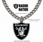 oakland raiders necklace