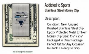 Seahawks Money Clip