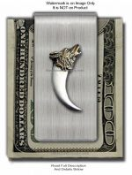 Wolf Bear Claw Money Clip