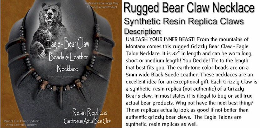 Unleash Your Inner Beast Grizzly Bear Claw Necklace Indian