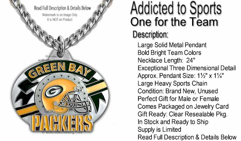 6a4c94671 One for the Team! This necklace comes to you ready to wear today, game day  or any day. The pendant hangs from our own heavy 24″ sports chain.