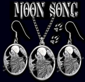 Moon Song Wolf Jewelry Set