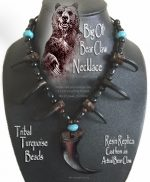 Bear Claw Blue Turquoise Necklace
