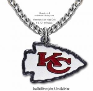 Chiefs Lrg Logo Necklace