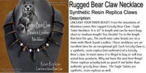 White Buffalo Bear Claw Necklace