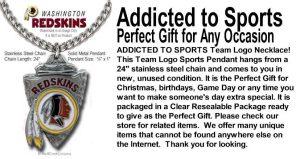 Redskins Arrowhead Necklace