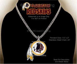 Large Redskins Necklace