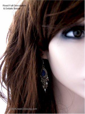 blue jean earrings included