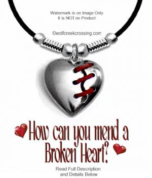 brioken heart necklace