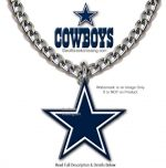 cowboys large chain necklace