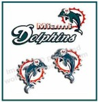 Miami Dolphins Earrings