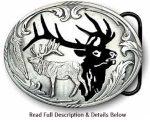 Silhouette Elk Buckle