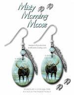 misty moose earrings