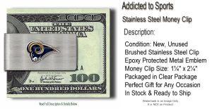 St Louis Rams Money Clip