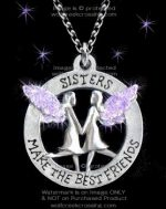 Purple Sisters Necklace