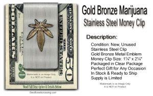 pot leaf money clip