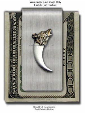 Wolf Bear Claw Money Clip