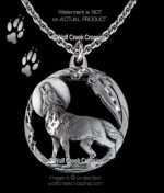Moon Shadow Wolf Necklace
