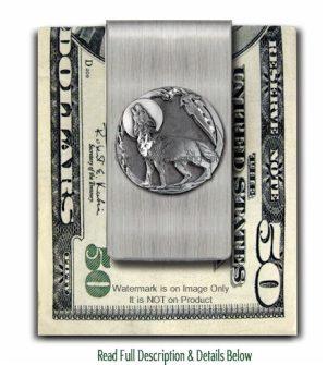 Wolf Moon Shadow Money Clip
