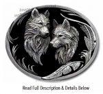 Wolf Pair Buckle